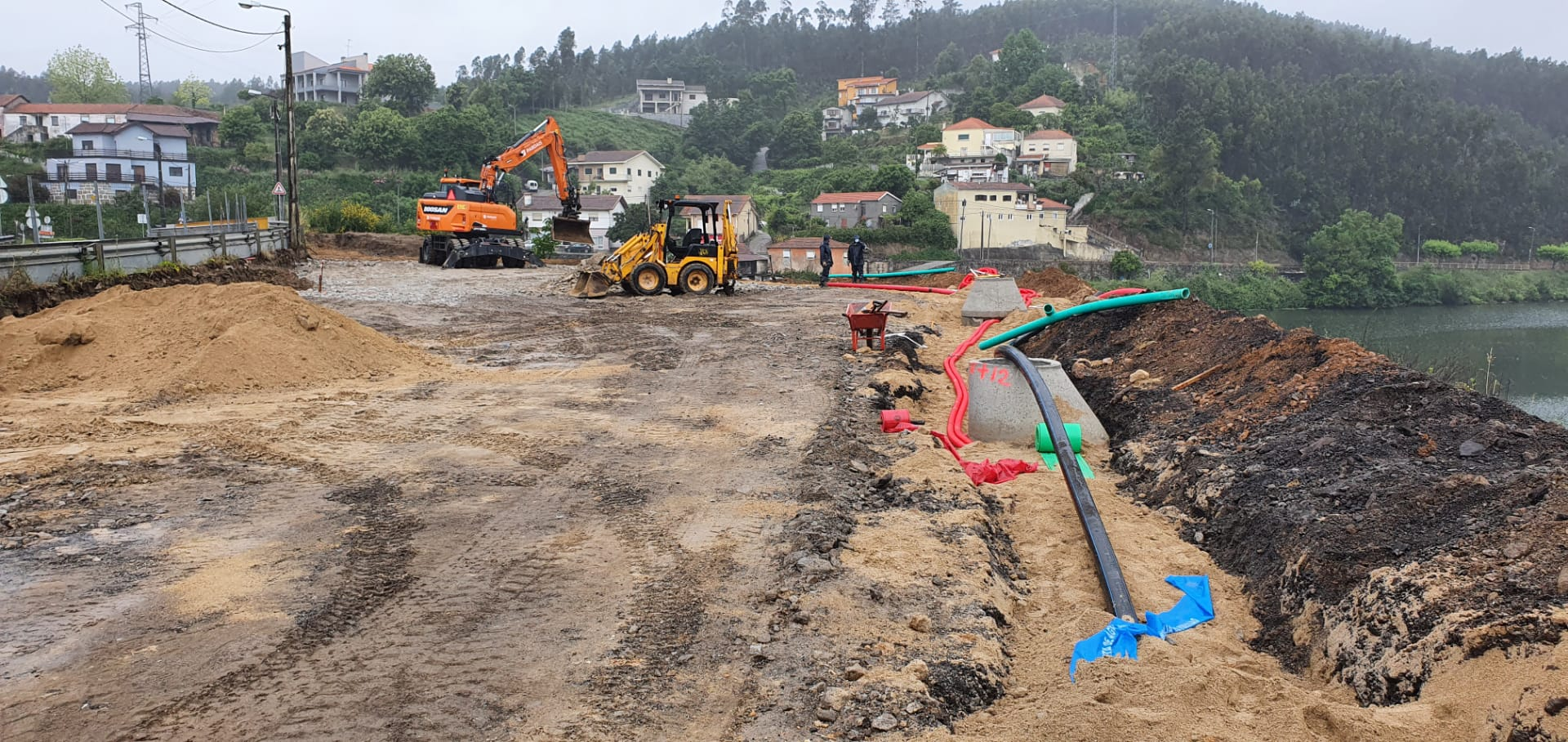 Beneficiação da Rotunda de acesso ao cais da Lixa- Covelo Gondomar